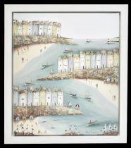 REBECCA LARDNER (born 1971); signed limited edition print, 'Shore Thing', 28/95, 91.5 x 76cm,