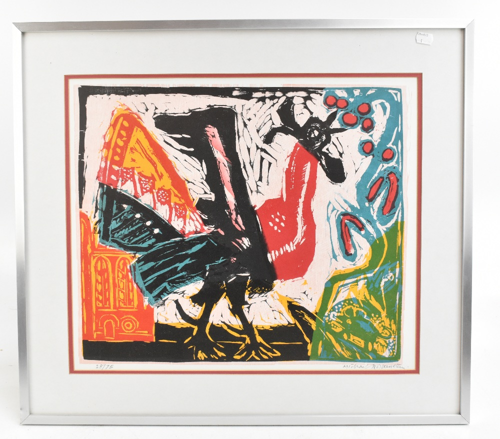 MICHAEL ROTHENSTEIN (1908-1993); limited edition signed coloured print, 'Cockerel', 28/75, 42 x
