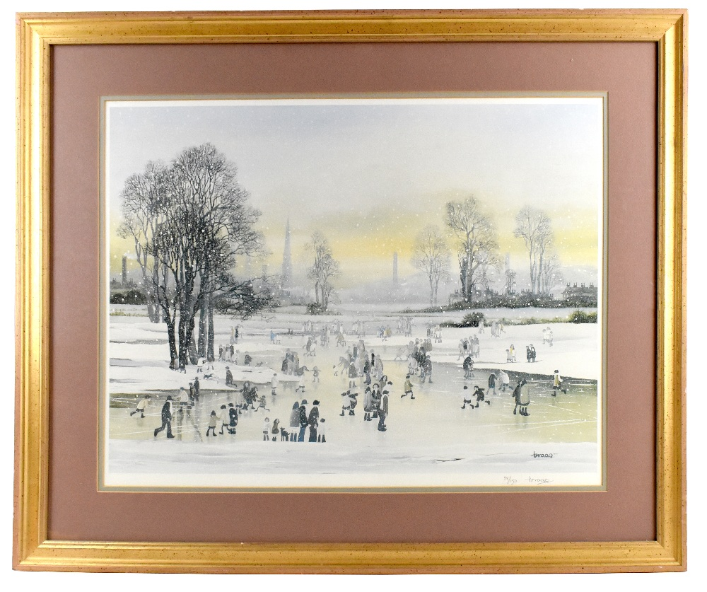 BRIAN SHIELDS BRAAQ (1951-1997); pencil signed limited edition print, Manchester landscape, 78/