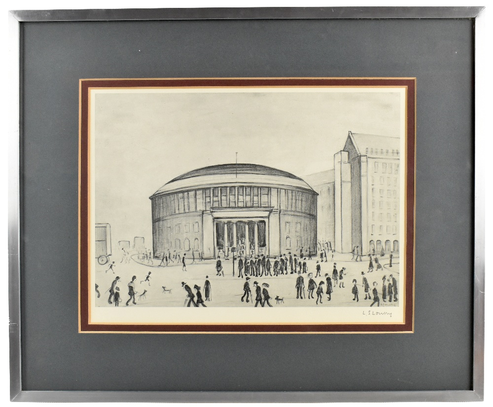 LAURENCE STEPHEN LOWRY RBA RA (1887-1976); limited edition signed print, 'The Reference Library',