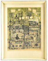 RICHARD BEER (1928-2017); pencil signed limited edition print, 'Mercado', 2/100, 62 x 46cm, framed