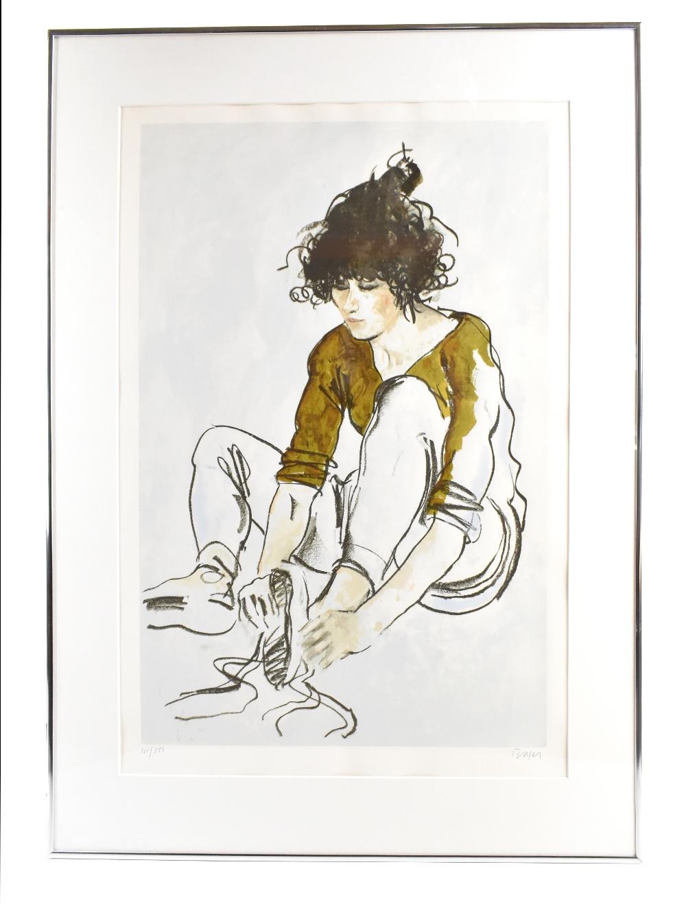 DONALD HAMILTON FRASER (Scottish, 1929-2009); pencil signed limited edition print, 'Italian Dancer',