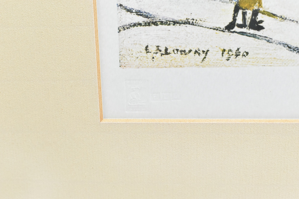 LAURENCE STEPHEN LOWRY RBA RA (1887-1976); signed coloured limited edition print, 'Ferryboats', - Image 3 of 5