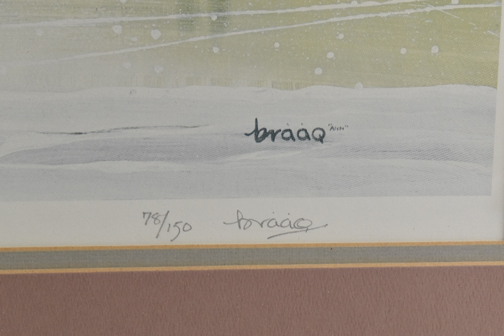 BRIAN SHIELDS BRAAQ (1951-1997); pencil signed limited edition print, Manchester landscape, 78/ - Image 3 of 4