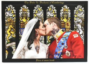 DIRTY HANS (Contemporary British); original colour print on faux canvas, 'The Duke and Duchess of