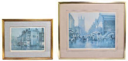 ROBERT 'BOB' RICHARDSON (born 1938); two signed limited edition coloured prints 'Stockport