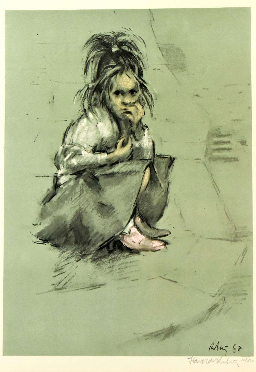 HAROLD FRANCIS RILEY DL DLitt FRCS DFA ATC (born 1934); limited edition print, 'Girl in Mother's - Image 2 of 4