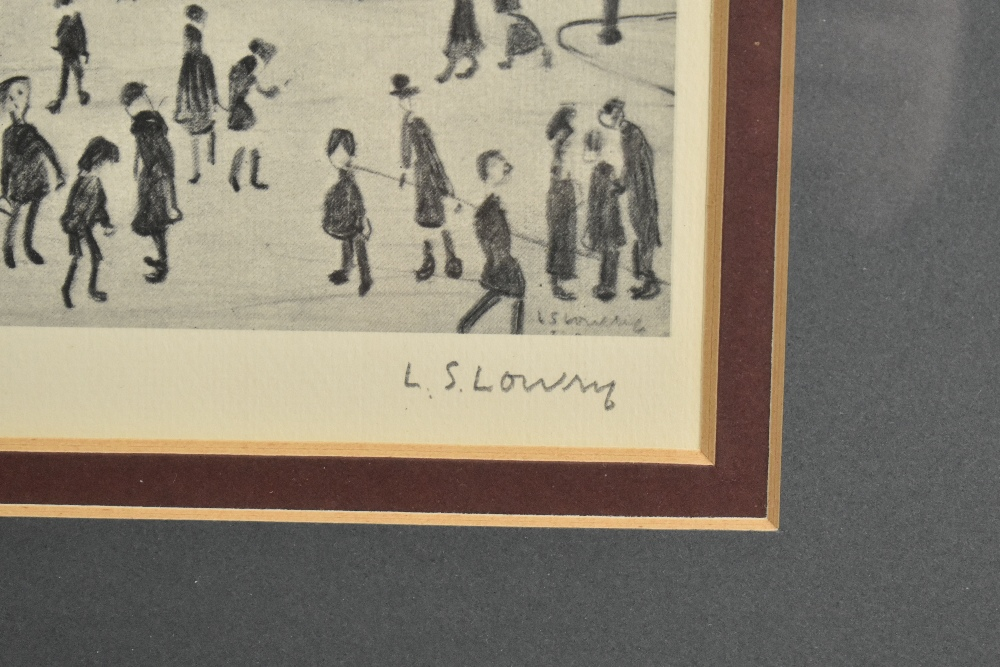LAURENCE STEPHEN LOWRY RBA RA (1887-1976); limited edition signed print, 'The Reference Library', - Image 3 of 5