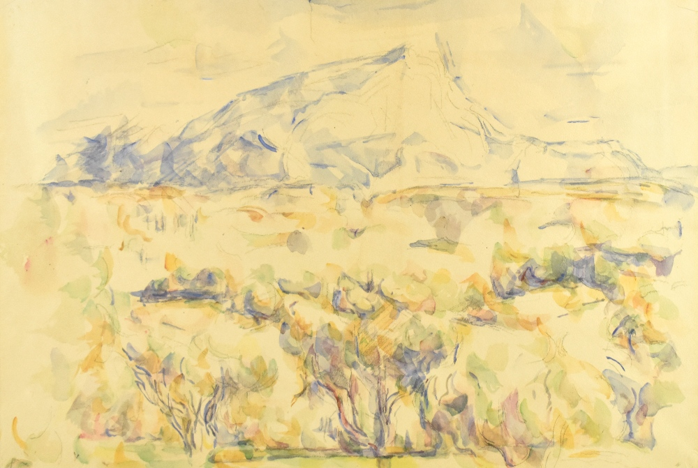 AFTER PAUL CEZANNE; colour print, Montagne Sainte Victoire, with blind stamp lower right, 35.5 x - Image 2 of 4