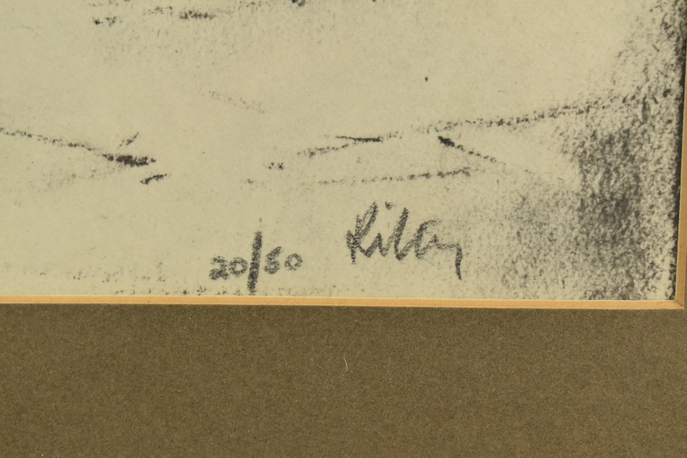 HAROLD FRANCIS RILEY DL DLitt FRCS DFA ATC (born 1934); lithograph, 'Street Vendor', 20/50, signed - Image 3 of 4