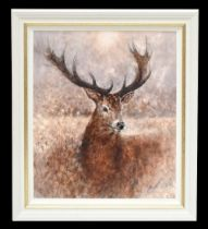 GARY BENFIELD (born 1965); signed limited edition print, 'Noble', 91/195, 81 x 69cm, framed. (D)