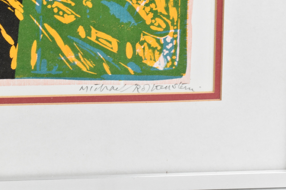 MICHAEL ROTHENSTEIN (1908-1993); limited edition signed coloured print, 'Cockerel', 28/75, 42 x - Image 3 of 5