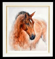 GARY BENFIELD (born 1965); signed limited edition canvas print on board, 'Patience',100/195, with