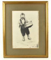 HAROLD FRANCIS RILEY DL DLitt FRCS DFA ATC (born 1934); lithograph, 'Street Vendor', 20/50, signed