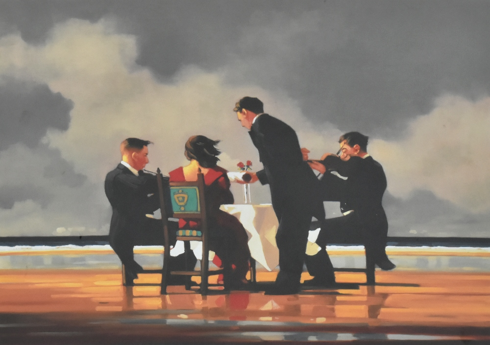 JACK VETTRIANO (Scottish, born 1951); pencil signed limited edition print, 'Elegy for the Dead - Image 2 of 5
