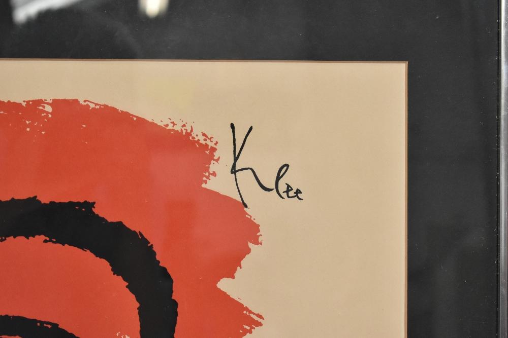 AFTER PAUL KLEE; coloured lithograph, 'Kettledrummer, 1940', 60 x 48cm, framed and glazed.Additional - Image 2 of 3