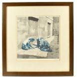 HAROLD FRANCIS RILEY DL DLitt FRCS DFA ATC (born 1934); limited edition signed print, 'Marbles',