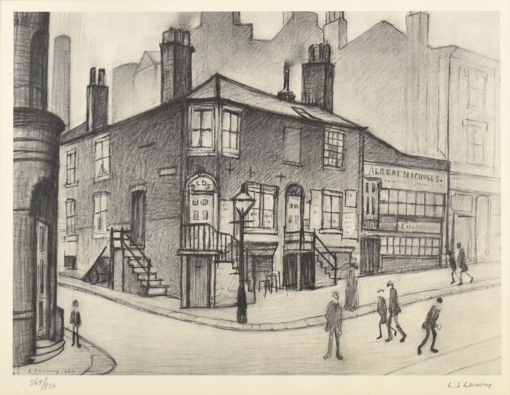 LAURENCE STEPHEN LOWRY RBA RA (1887-1976); limited edition signed print, 'Great Ancoats Street, - Image 2 of 5