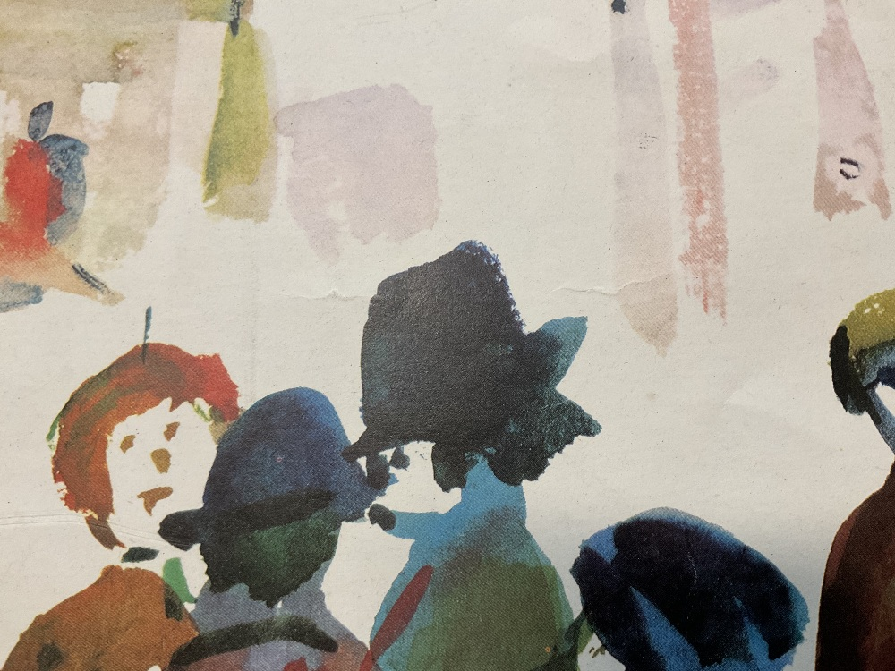 LAURENCE STEPHEN LOWRY RBA RA (1887 - 1976); signed colour print, 'People Standing About', with FATG - Image 4 of 15