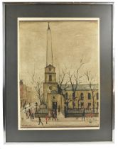 LAURENCE STEPHEN LOWRY RBA RA (1887-1976); pencil signed limited edition lithograph print, 'St