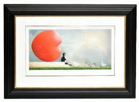 MACKENZIE THORPE (born 1956); pencil signed limited edition print, 'Feed the Birds', 91/195, 38 x