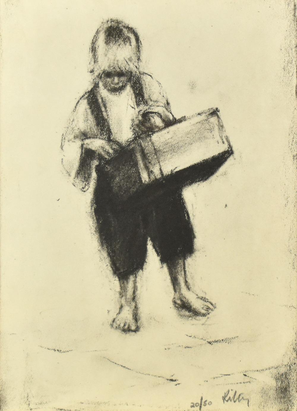 HAROLD FRANCIS RILEY DL DLitt FRCS DFA ATC (born 1934); lithograph, 'Street Vendor', 20/50, signed - Image 2 of 4