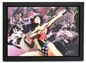 ALEX ROSS; signed limited edition print, 'Wonder Woman, Defender of Truth', DC Comic, 120/195,