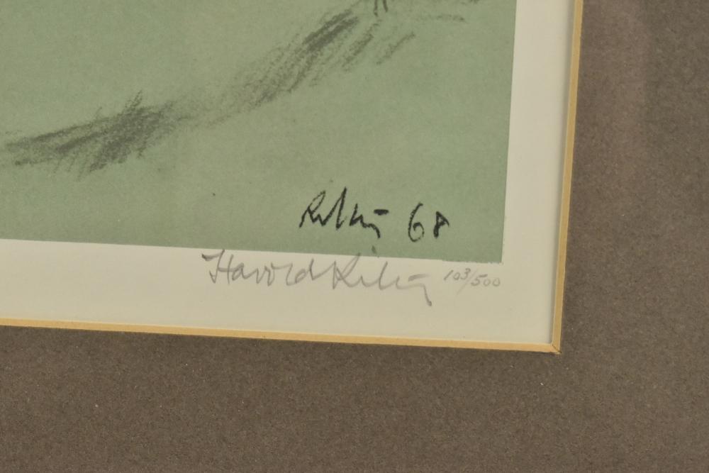 HAROLD FRANCIS RILEY DL DLitt FRCS DFA ATC (born 1934); limited edition print, 'Girl in Mother's - Image 3 of 4