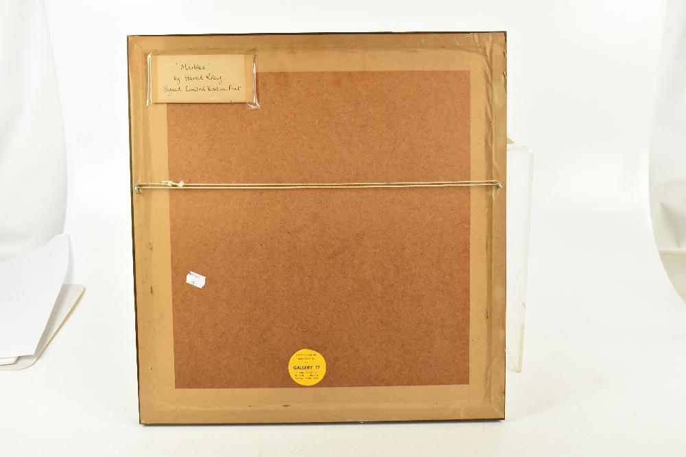 HAROLD FRANCIS RILEY DL DLitt FRCS DFA ATC (born 1934); limited edition signed print, 'Marbles', - Image 4 of 4