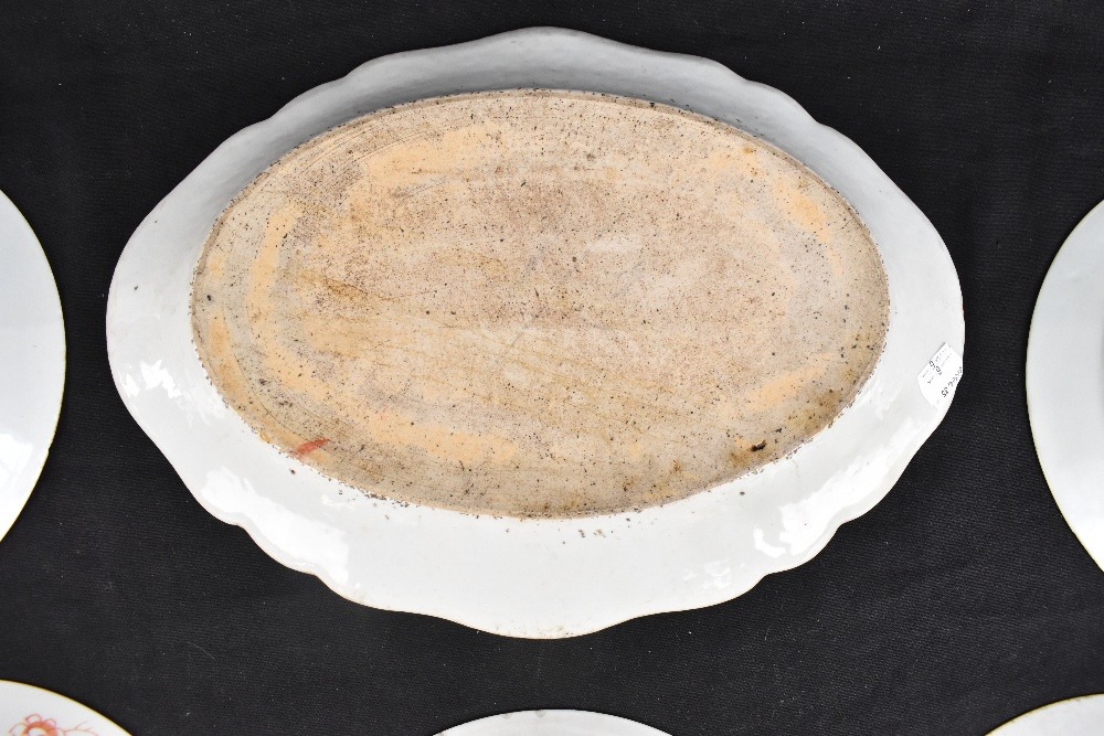 An 18th century Chinese Export Famille Rose oval platter with floral decoration, 27 x 37cm and - Image 13 of 13