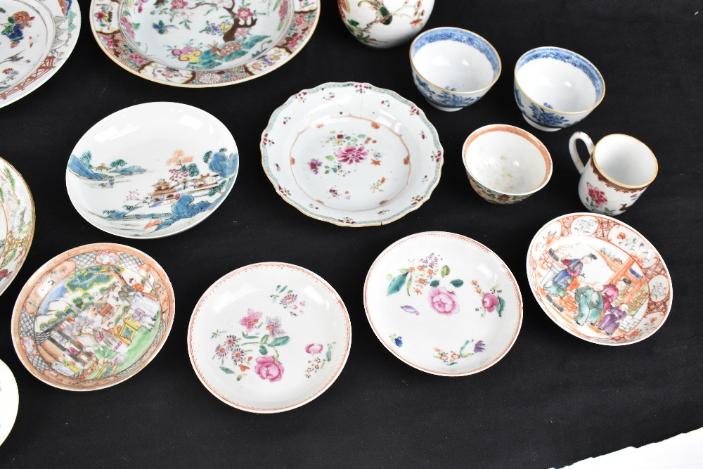 A group of Chinese porcelain including 18th century Famille Rose bowl, a similar Famille Verte - Image 4 of 6