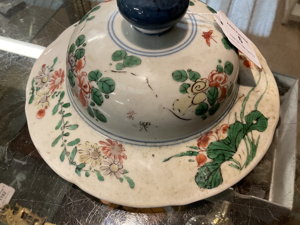A 19th century Chinese Famille Verte Wucai porcelain temple jar and cover painted with a band of - Image 14 of 33
