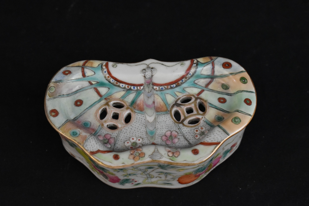 A late 19th century Chinese Famille Verte vase decorated in enamels with figures in landscape - Image 12 of 32