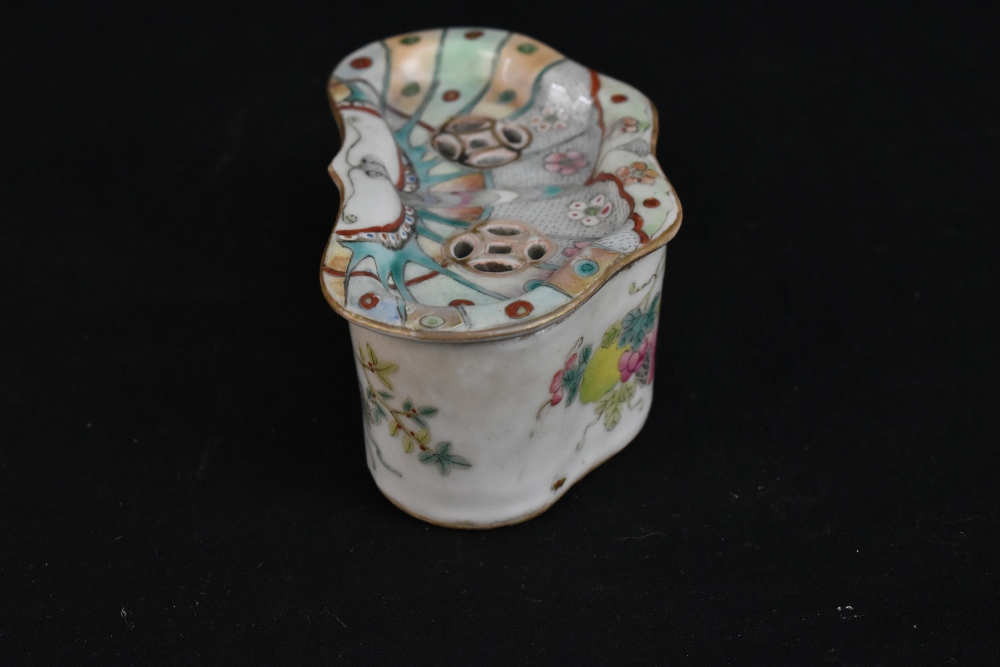 A late 19th century Chinese Famille Verte vase decorated in enamels with figures in landscape - Image 13 of 32