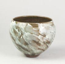 ALEX SHIMWELL (born 1980); a stoneware bowl covered in porcelain slip over dark body, impressed S