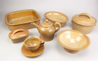 ANDREW YOUNG (born 1949) & JOANNA YOUNG (born 1950); a group of stoneware ceramics comprising a