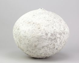 AKIKO HIRAI (born 1970); a large stoneware seed vessel, painted mark, height 30.5cm.Additional