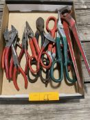 TIN SNIPS, PLIERS, NEEDLE NOSE, AND MORE