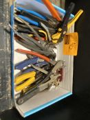 WIRE CRIMPERS AND CUTTER, LEATHER PUNCH, ALLEN WRENCH, PLIERS, NIPPERS, WILLIAMS ADJUSTABLE