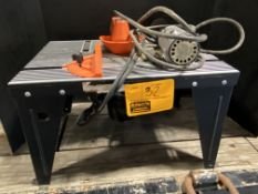ROUTER TABLE W/ROUTER, CRAFTSMAN HAND GRINDER