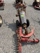 ANTIQUE GRAVELY WALK BEHIND TRACTOR WITH SICKLEMOWER