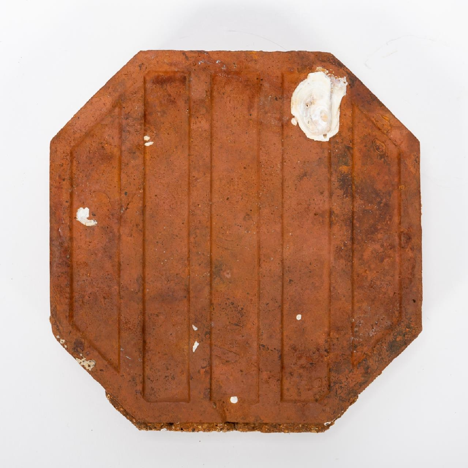 RMS CARPATHIA, SALVAGED RED OCTAGONAL FLOOR TILE - Image 2 of 7