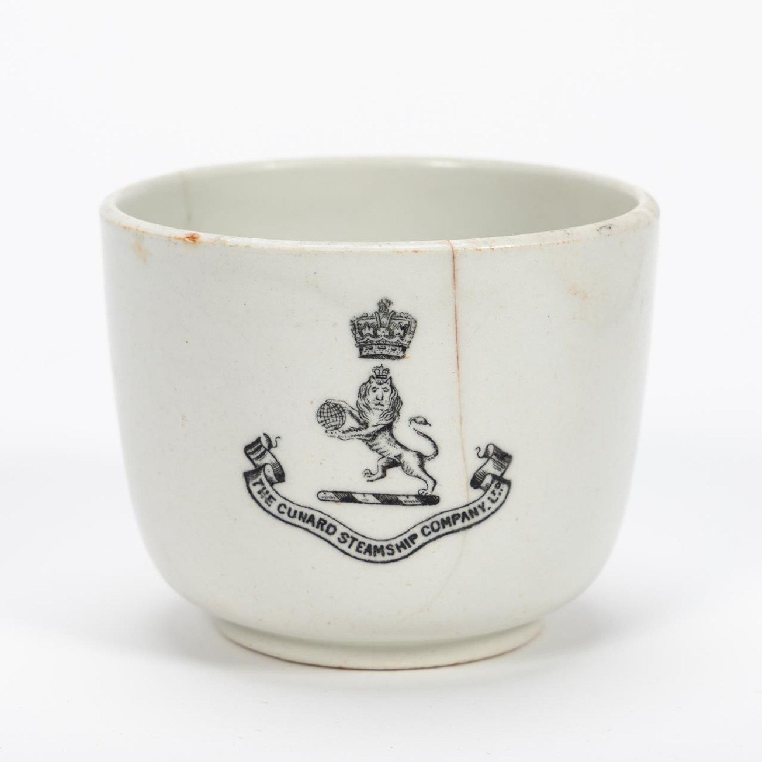 RMS CARPATHIA, SALVAGED THIRD CLASS CUP WITH LOGO - Image 2 of 9