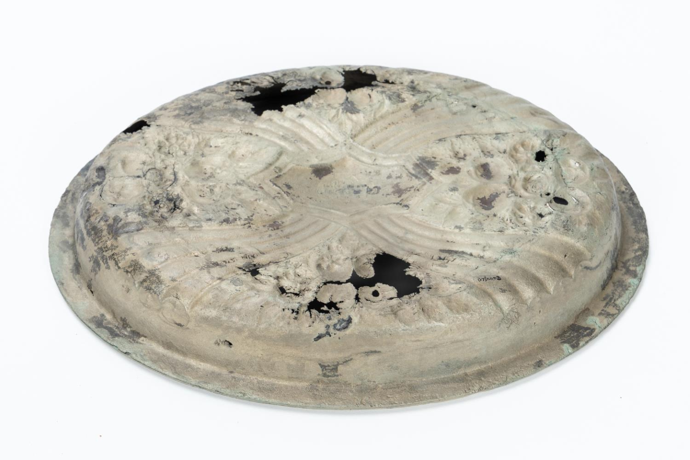 RMS CARPATHIA, SALVAGED SILVERPLATE SERVING DISH - Image 2 of 7