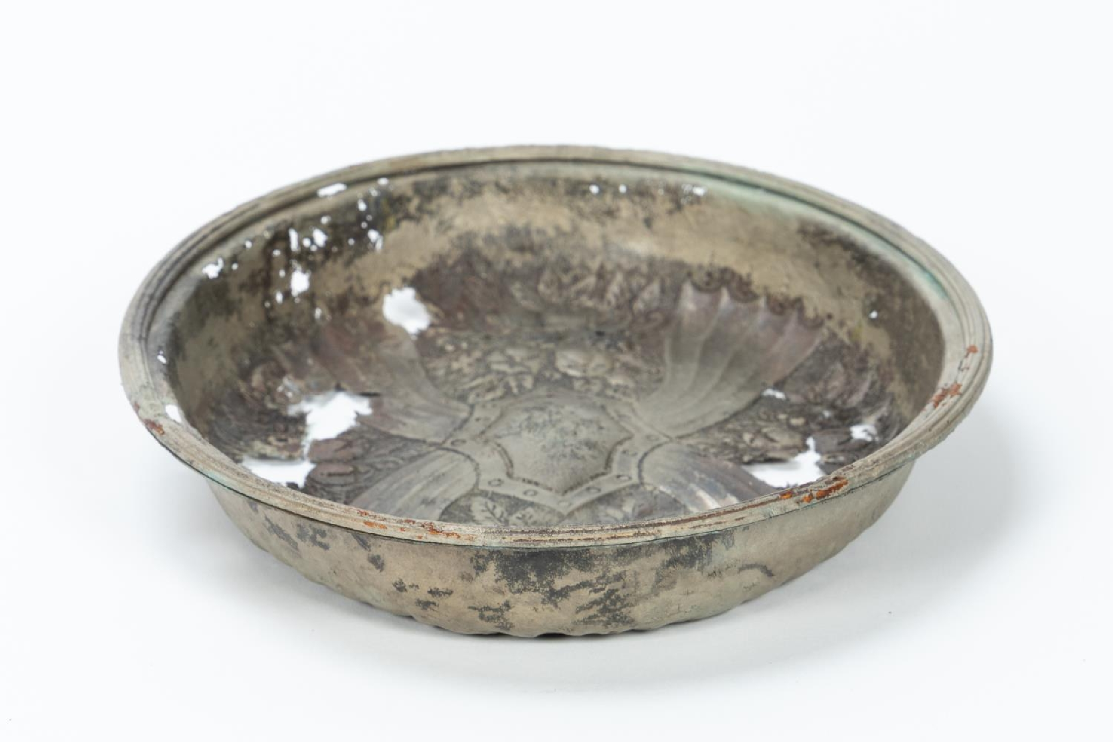 RMS CARPATHIA, SALVAGED SILVERPLATE SERVING DISH - Image 3 of 7