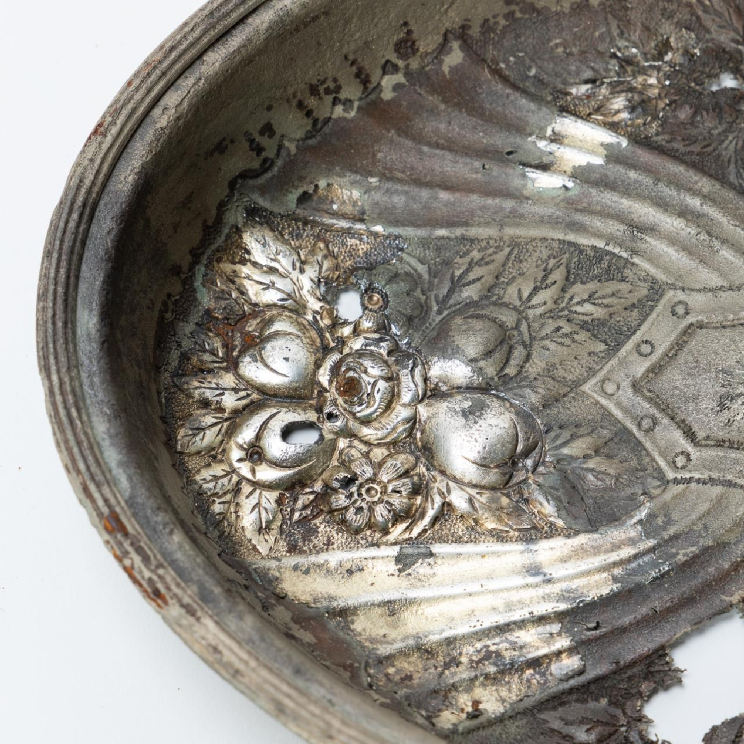 RMS CARPATHIA, SALVAGED SILVERPLATE SERVING DISH - Image 6 of 7