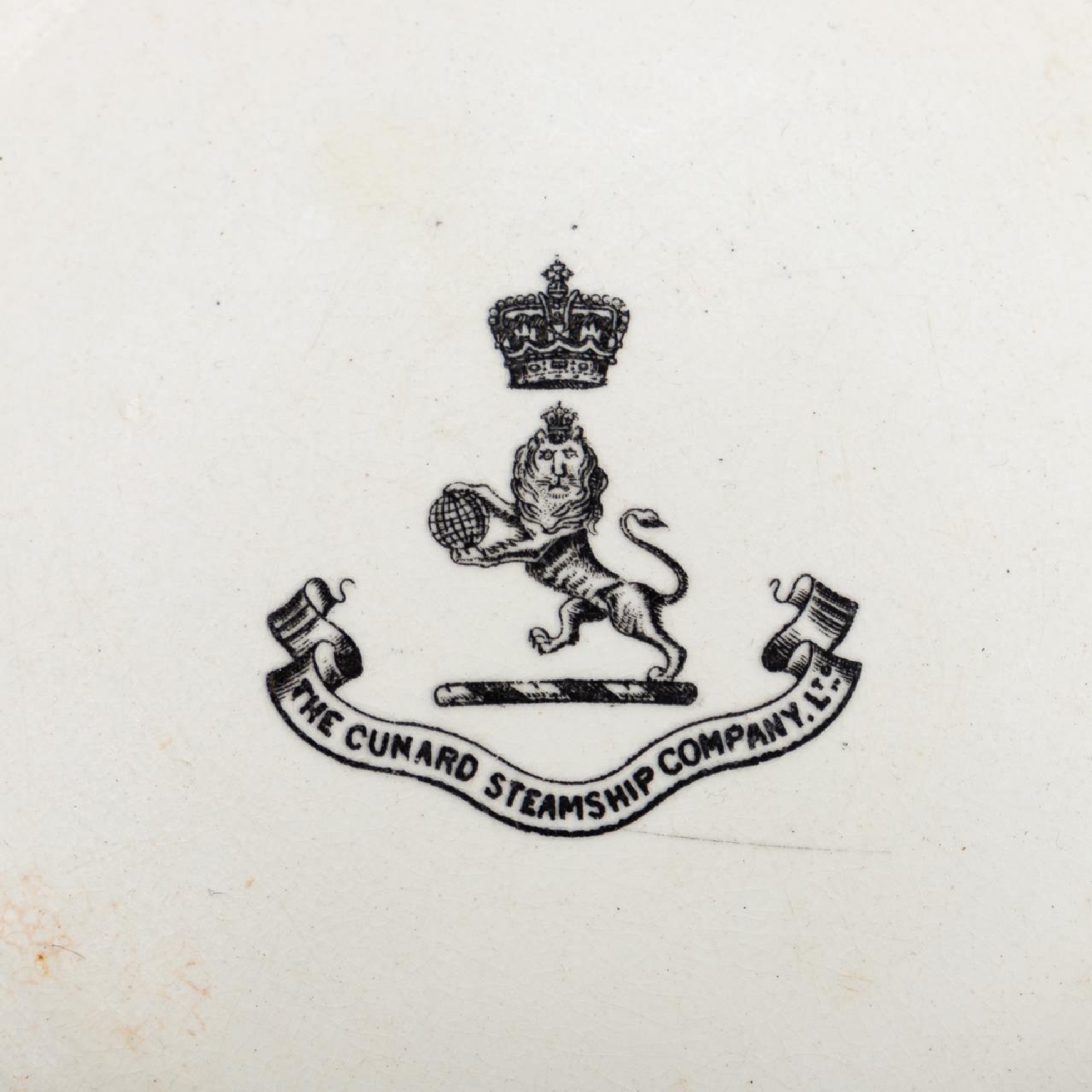RMS CARPATHIA, SALVAGED THIRD CLASS BOWL WITH LOGO - Image 5 of 5