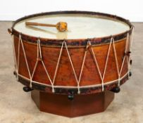 LARGE 19TH CENTURY DRUM FORM COFFEE TABLE