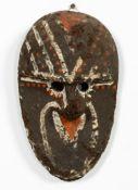 PAPUA NEW GUINEA COLORFUL MUD & FIBER MASK