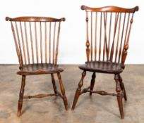 TWO WINDSOR SIDE CHAIRS, ONE WALLACE NUTTING